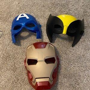 Superhero face masks